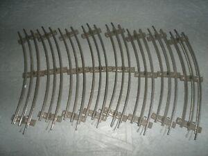 6 alte elektrische Märklin 12er Kreis Gleise Schienen gebogen Spur 0
