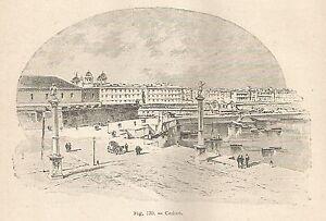 CompéTent A5811 Cadice - Veduta - Xilografia - Stampa Antica Del 1895 - Engraving Le Plus Grand Confort