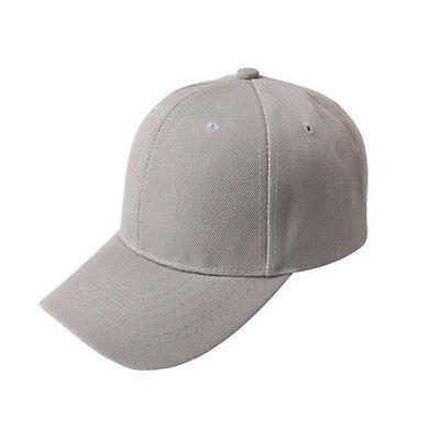 Stylish Men Women Plain Baseball Cap Blank Adjustable Solid Hat Pre Curved Visor