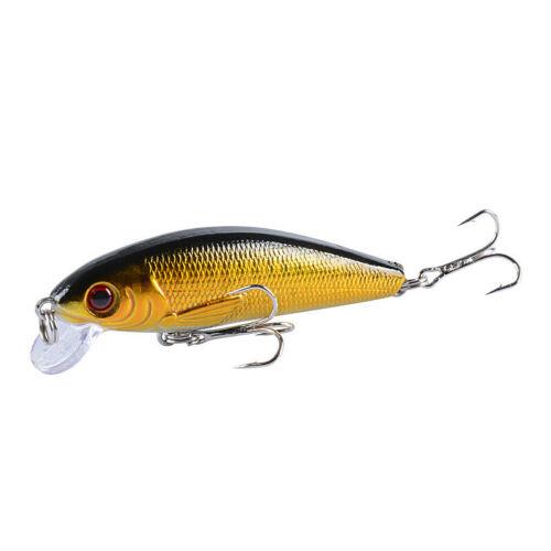 10PCS Fishing Lures Minnow Hard Bait Wobbler Bass Crankbait Hook Tackle Crank