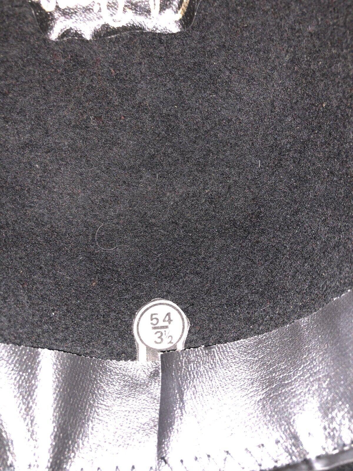 "LADY DIANA BLACK HAT SIZE 54 31/2"" Sombrero de lu… - image 5"