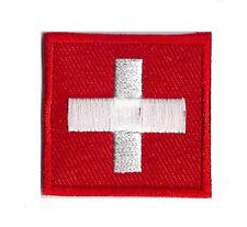 Ecusson patche Suisse Switzerland petit patch 35x35 mm thermocollant