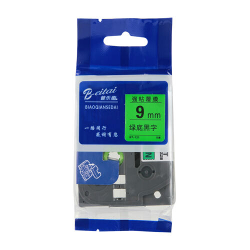 Compatible Brother Tze Label Tape Printer P-Touch Laminated 6mm//9//12//18//24mm x8m