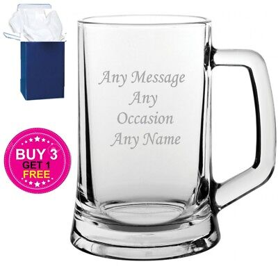 Personalised Pint Glass Tankard Wedding Father Of The Bride Gifts Engraved Free