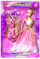 Its Girls Stuff Fashion Doll Dress Up Doll With 3 Dresses Accessories Play Set57