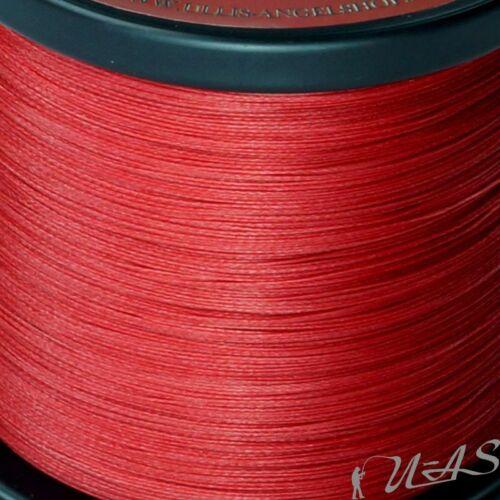 DELTEX GRIZZLY Rot 0.18mm 21,30kg 1000M PE JAPAN 8 fach Geflochtene Angelschnur