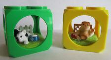 2 x Love Puppies * Hund Bulldoge + Katze Fold mit Zubehör * Stapel-Würfel (x4)