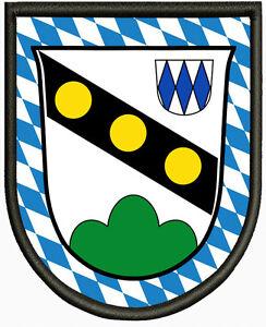 Wappen-von-Oberpoering-Aufnaeher-Patch-Pin-Aufbuegler