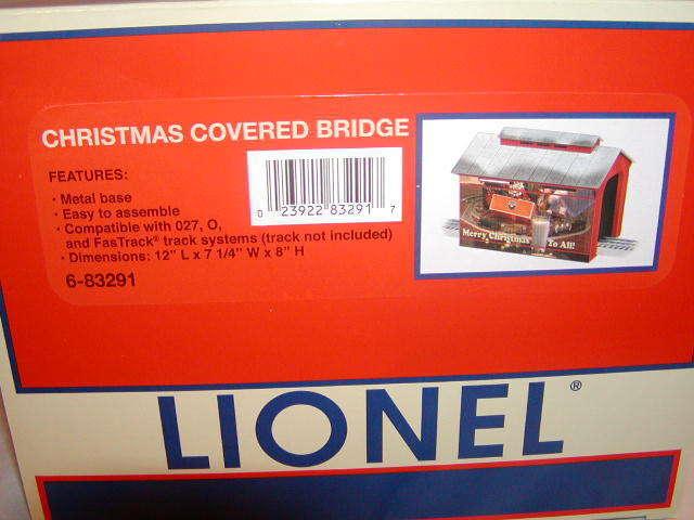 Lionel 6-83291 Navidad puente cubierto 12  nuevo 2016 Menta en caja o 027 lámpara iluminada 1