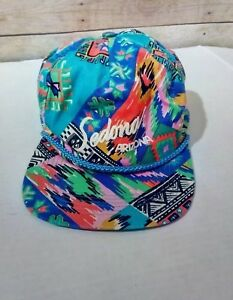 8469f066ae653 Vintage 80 s Colorful Arizona Tropical Aztec Theme Trucker Snapback ...