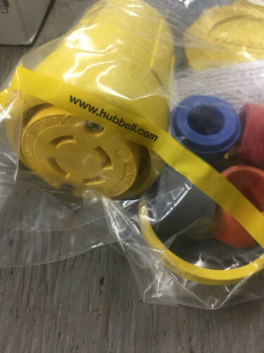 new Hubbell 29W75 30A 250V 3 phase L15-30 watertight connector lot of 3