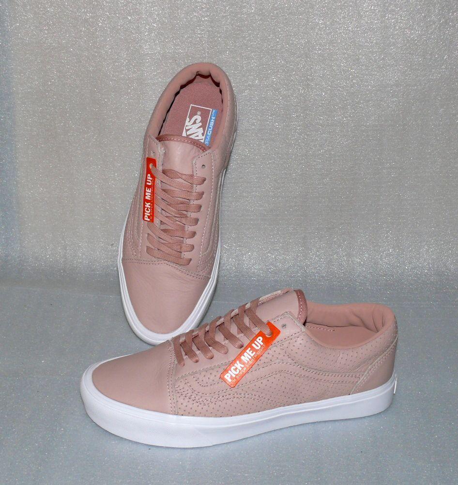 Vans OLD SKOOL Lite Perf Leder Herren Schuhe Freizeit Sneaker 42 US 9 Blush Pink