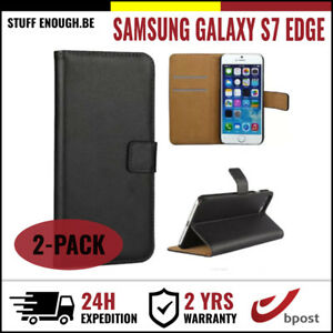 2IN1-Wallet-Case-Cover-Cas-Coque-Etui-Hoesje-Black-For-Samsung-Galaxy-S7-Edge