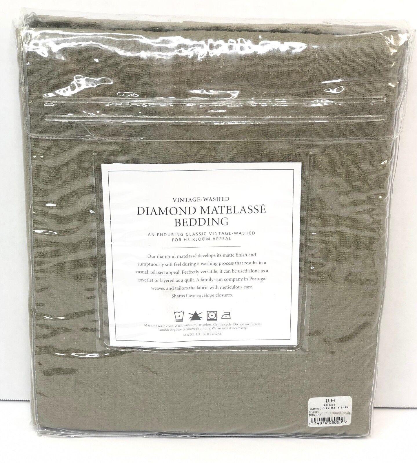 Restoration Hardware Vintage-Washed Diamond Matelasse Lumbar Sham Pacific $39
