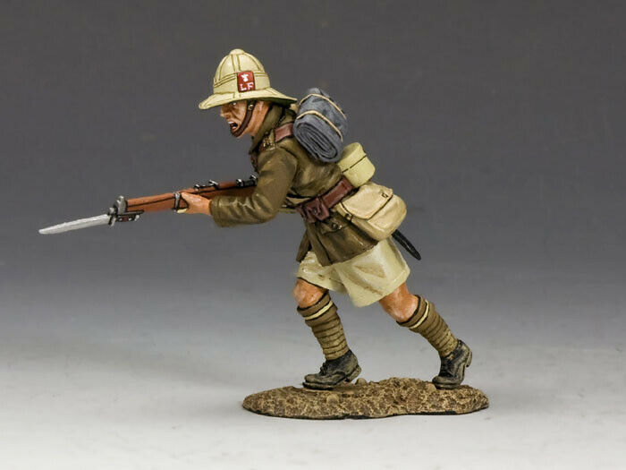 KING & COUNTRY MIDDLE EAST WW1 ME004 BRITISH LANCASHIRE FUSILIERS CHARGING MIB