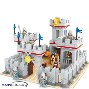 686pcs Medieval Knight Castle Building Blocks Action DIY Figure Toys Gift Kids