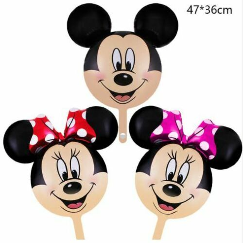 Mickey Minnie Mouse Aluminum Balloons Kids Shower Birthday Party Decor 47 X 36cm