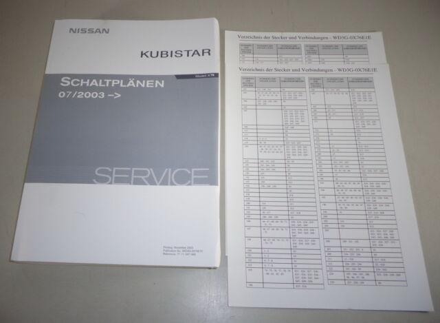 Workshop Manual  Electric Schematics Nissan Kubistar