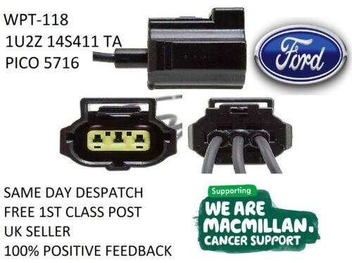 Alternador Ford Transit Plug Conector de Cable Arnés WPT-118 /& 1U2Z-14S411-TA