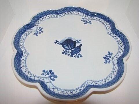Porcelæn, Tranquebar  Stort fad med bølget kant,