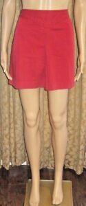 Banana-Republic-Size-4-Red-Front-Pleat-Skirt-W-Pockets-amp-a-Back-Zipper
