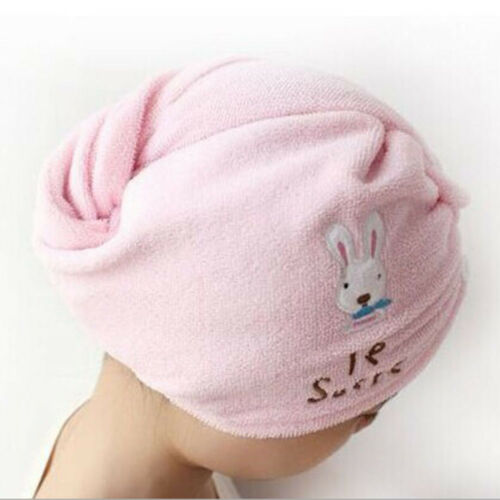Women Pink Microfiber Bath Towel Hair Dry Hat Cap Quick Drying Lady/'s Bath Tool