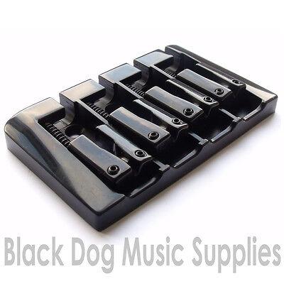 Quality bass guitar bridge in chrome black, gold BB104 hard tail or through body