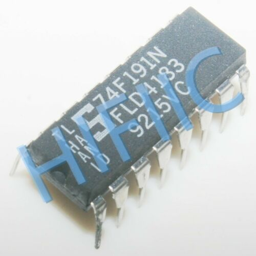 5PCS 74F191N Up//down binary counter with reset and ripple clock DIP16