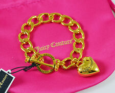 Juicy Couture BANNER PUFF HEART STARTER BRACELET Gold Color