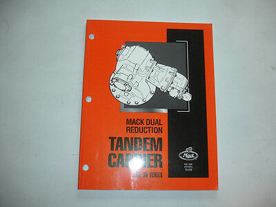 Mack Truck 92//93 /& 112//113 Series Tandem Carrier Service Manual OEM