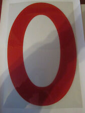 Big no 0 England Home Football Shirt Name Set Rear Number Red Sporting ID