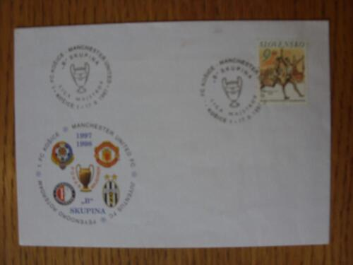 01071997 Commemorative Cover Kosice v Manchester United European Cup Stampe