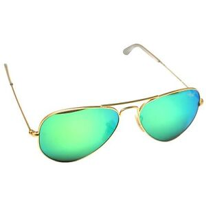 b6724d67f8ce5 NEW Authentic Ray-Ban RB3025-112 19 Unisex AVIATOR Green FLASH ...