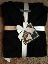 Taylor Marcs Ladies Knitted Gauze Pajama Set, Black & white, Sz. Sm.