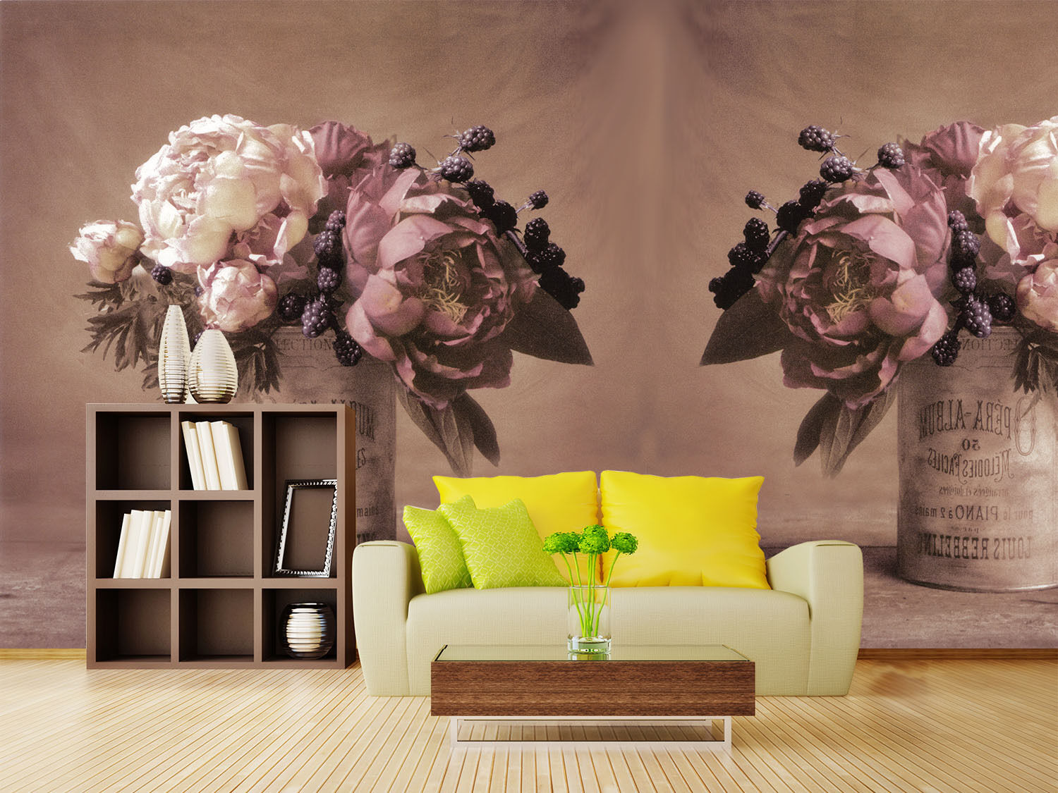 3D Big Flowers Vase 914 Wall Paper Wall Print Decal Wall Deco Wall Indoor Murals