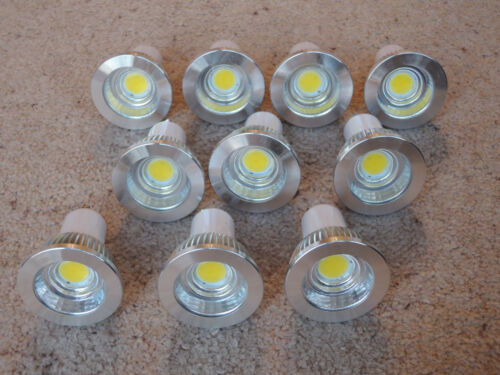 10 pack of 3W GU10 LED Bulbs 35-40w Warm Day White Light