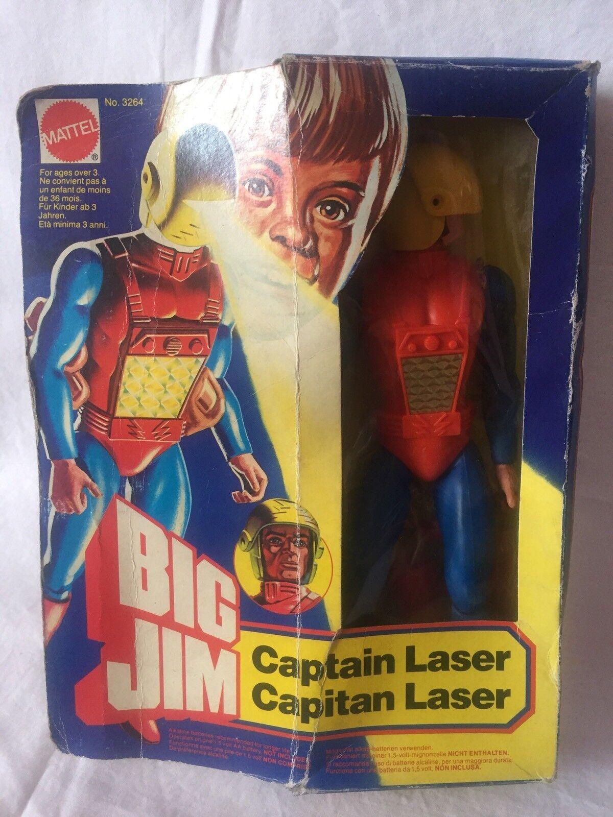 BIG JIM CAPITAN LASER MATTEL DEAD STOCK NEW      c1adc9