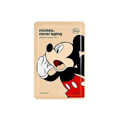 THE FACE SHOP Disney Mickey Never Aging FACE MASK Korea Cosmetic 1 Sheet