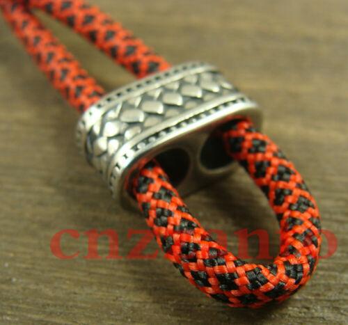 2pcs Acier Inoxydable Double Trous Anti perdu réglable bracelet cordon perle