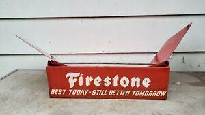 vtg advertising firestone tires catalog book holder dealer garage display