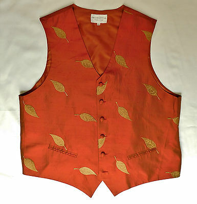 Pronuptia Monsieur mens silk waistcoats French tuxedo vest XL 44 or XXL 46 NEW