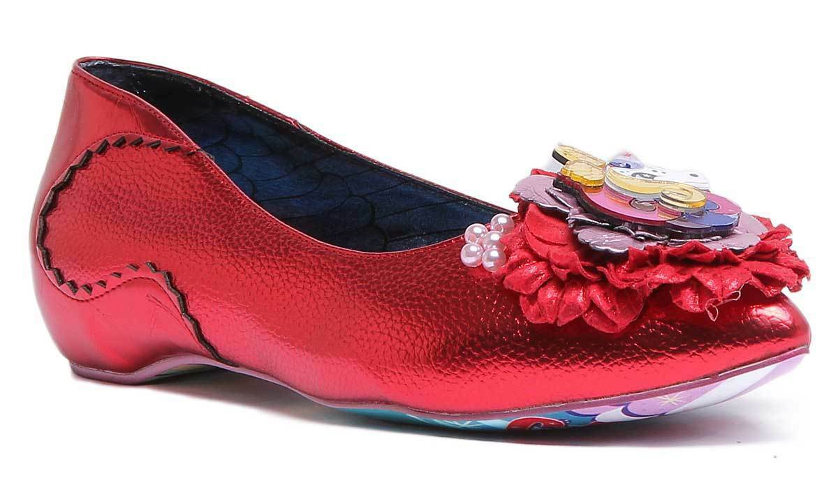 Irregular Choice Little Lady FSD femme synthétique rouge Plates Taille UK 3 - 8
