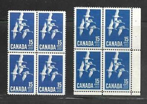 Canada-1964-415-Canada-Geese-aniline-ink-corner-block-see-both-scans-MNH