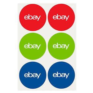 3-Color-Round-eBay-Branded-Sticker-Multi-Pack-3-x-3