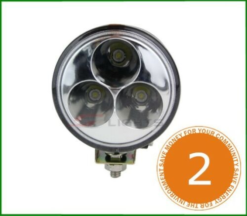 2X 9W Round LED Work Light 3.2/'/' SPOT Lamp Offroad car Boat Truck 4X4WD 9V-32V