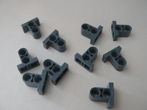 Lego 10 connecteurs gris fonce bluish 10219 10247 7691// 10 dark bluish connector