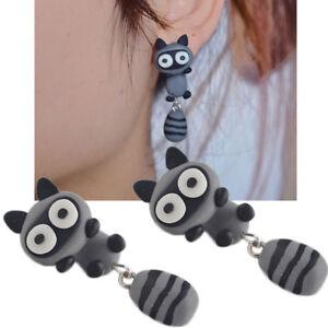 1-coppia-orecchini-3D-Procione-orecchino-lobo-vite-pendente-bigiotteria-donna
