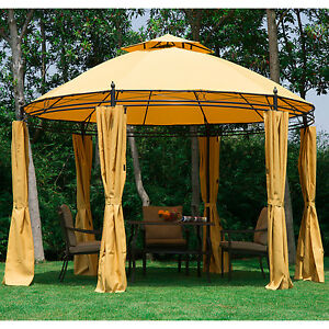 Image Is Loading 11 5FT Round Outdoor Patio Canopy Gazebo 2