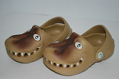 NEW POLLIWALKS GREEN ALLIGATOR GATOR shoes clogs 3D sandals 6 7 8 9 10 kids