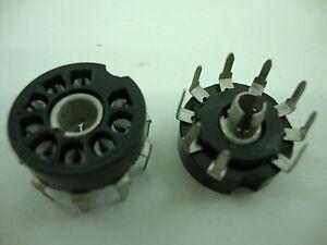 9-PINS-SOCKET-PCB-BAQUELITE-TUBE-SOCKET-ZOCALO-9-PINS-BAQUELITA-CIRC-IMP-1PC